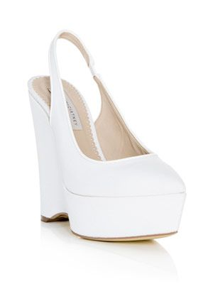 Natalie canvas wedge shoes