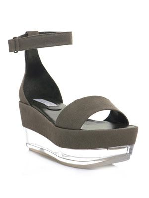 Canvas and Perspex flatform shoes
