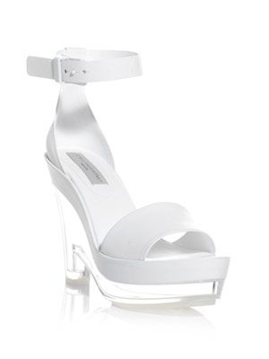 Valerie Perspex wedge sandals