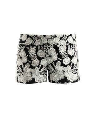 Floral embroidered shorts