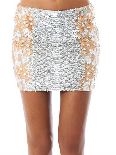 Haute Hippie Sequinned mini skirt