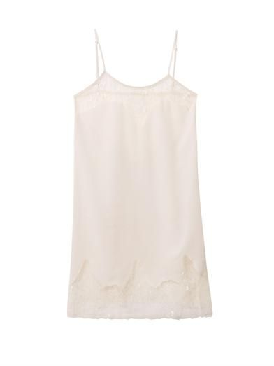 Haute Hippie Lace-trimmed cami dress