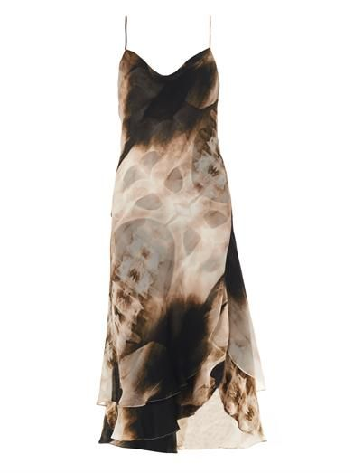 Haute Hippie X-ray print slip dress