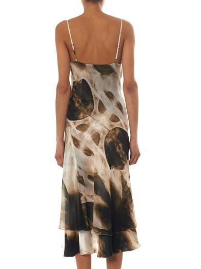 Haute Hippie X-ray print slip dress