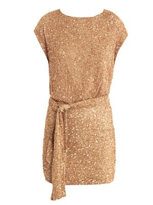 Embellished deep cross-back dress
