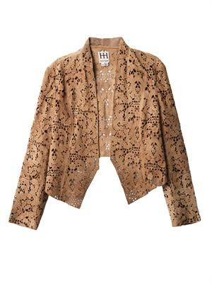 Laser-cut suede jacket
