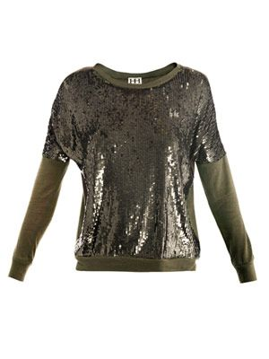 Sequin embellished sweater