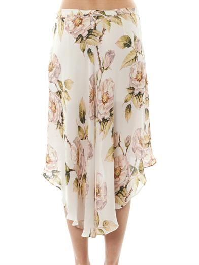 Haute Hippie Thorn floral-print asymmetric skirt