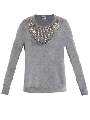 Crystal embellished sweater