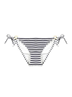 Sete stripe rope tie bikini briefs
