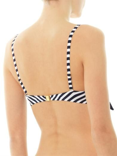 Heidi Klein Sete bow front stripe bikini top