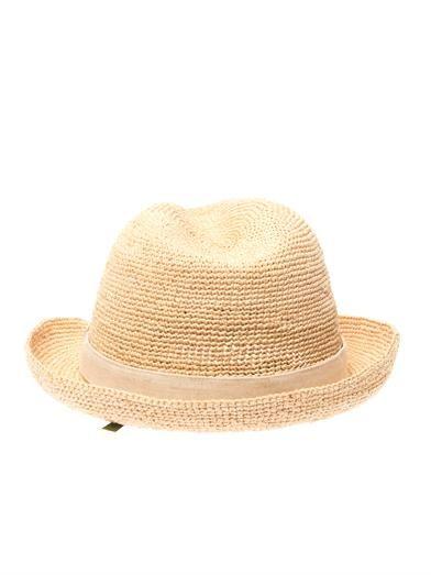 Heidi Klein Raffia fedora hat