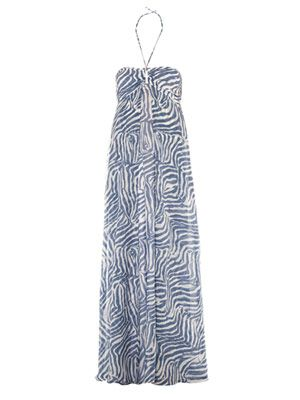 Kenya zebra-print maxi dress