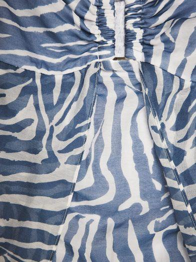 Heidi Klein Kenya zebra-print maxi dress