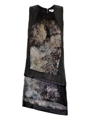 Oxide print double layer dress