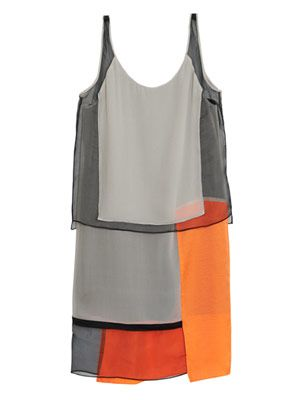 Chroma draped panelled shift dress