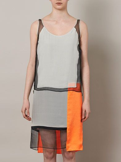 Helmut Lang Chroma draped panelled shift dress