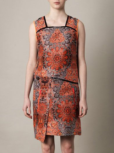 Helmut Lang Medalion jacquard dress