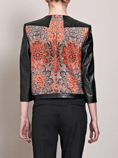 Helmut Lang Medallion-jacquard leather jacket