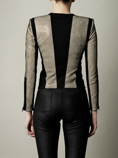 Helmut Lang Reptile effect leather jacket