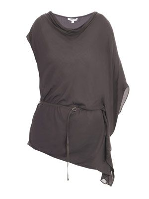 Lush voile asymmetric top