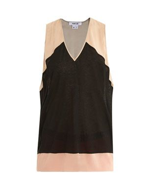 Colour-block vest top