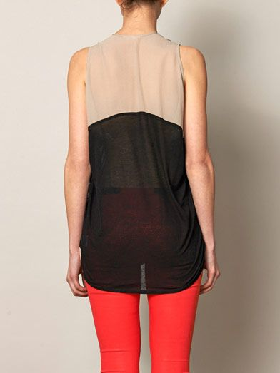 Helmut Lang Colour-block vest top