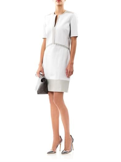 Helmut Lang Motion slash-neck panel dress