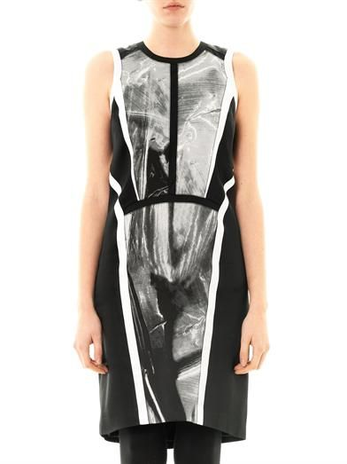 Helmut Lang Contrast-panel sleeveless dress