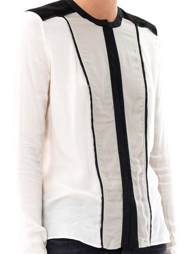 Helmut Lang Contrast panel blouse