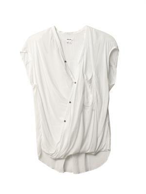 Lush draped angled blouse