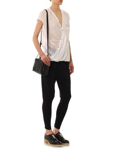 Helmut Lang Lush draped angled blouse
