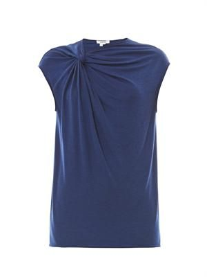 Twist-front jersey top