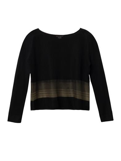 Helmut Lang Sheer stripe fine-knit sweater