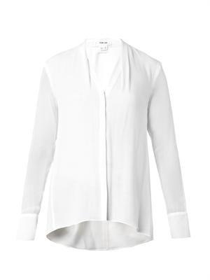 Morse draped crepe blouse