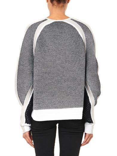 Helmut Lang Converging-panels sweater