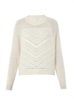 Veiled textured sweater
