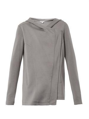 Villous hooded sweatshirt