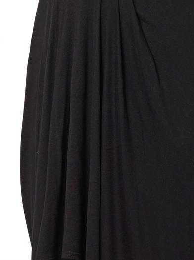 Helmut Lang Scala pleated jersey skirt