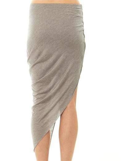 Helmut Lang Kinetic jersey skirt