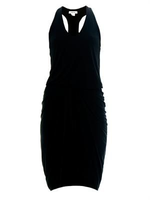 Racer-back jersey dress