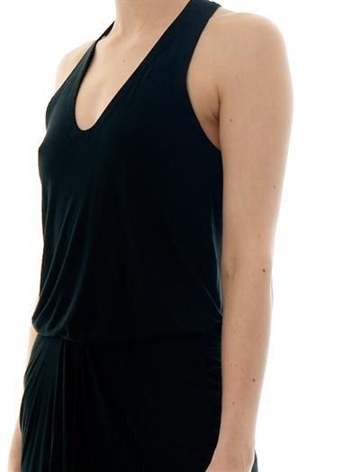 Helmut Lang Racer-back jersey dress