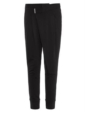 Villous origami jersey trousers