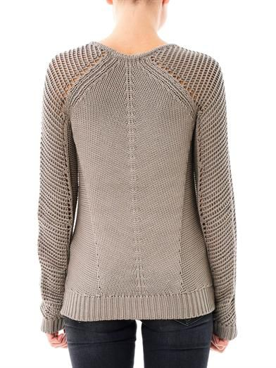 Helmut Lang Skeletal cord knit sweater