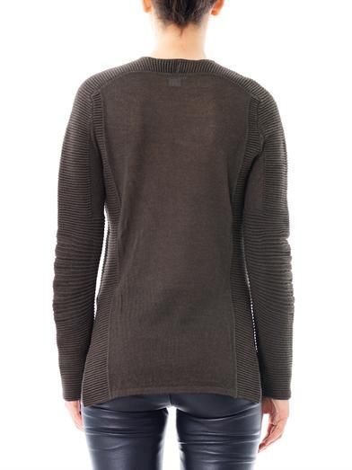 Helmut Lang Ribbed alpaca sweater