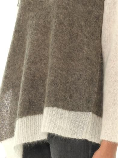 Helmut Lang Brushed alpaca contrast sleeve sweater