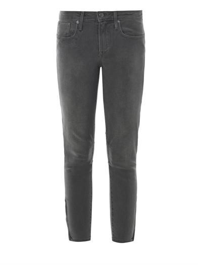 Helmut Lang Mid-rise cropped skinny jeans