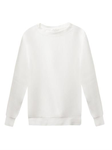 Helmut Lang Mesh-knit sweatshirt