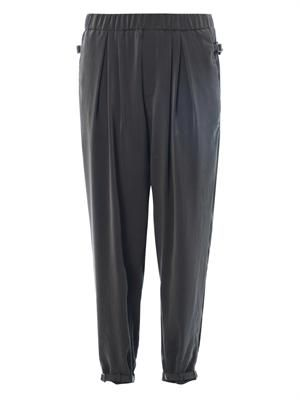 Terra ruched crepe trousers