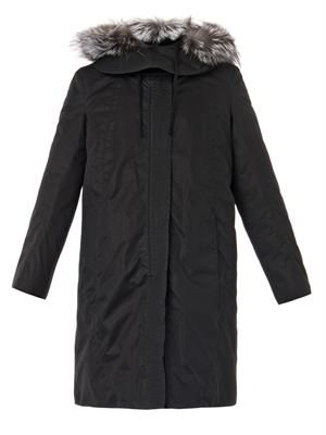 Fur-lined cotton-blend parka